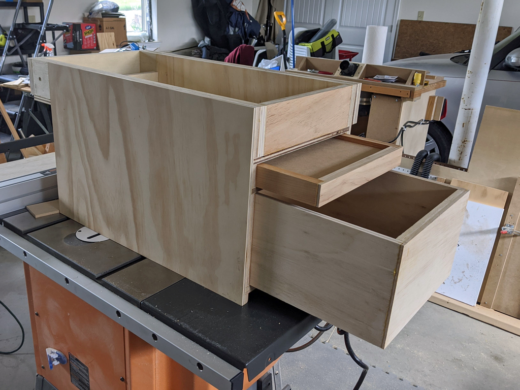 Unfinished storage box