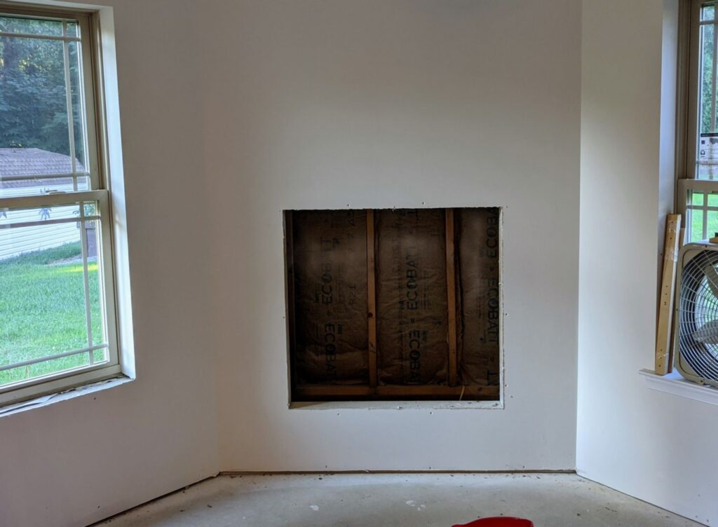 Fireplace hole