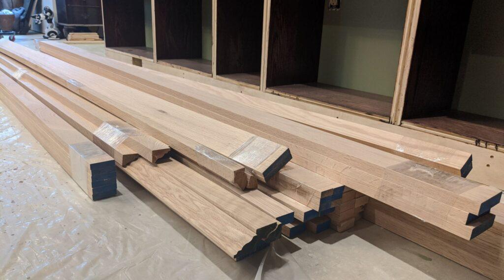 Custom red oak trim